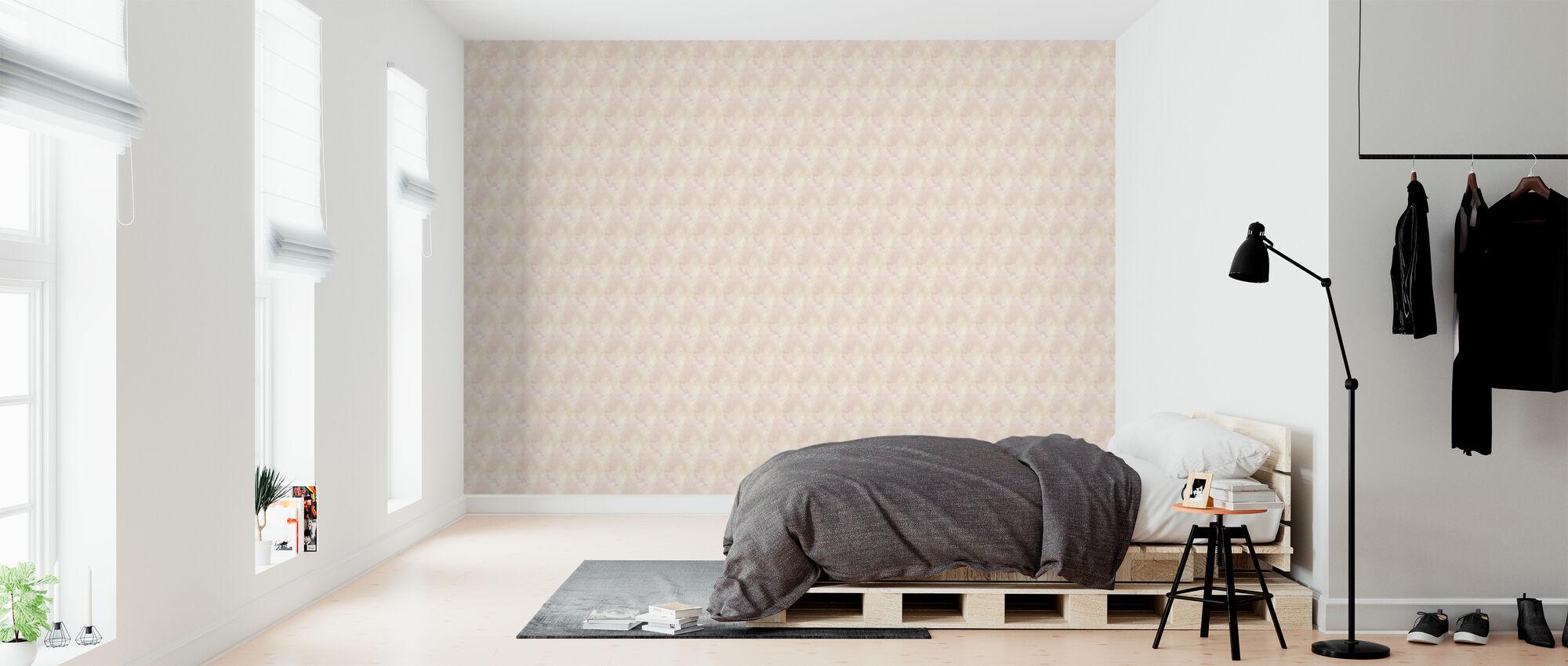 Aquarellen Licht Roze - Behang - Slaapkamer