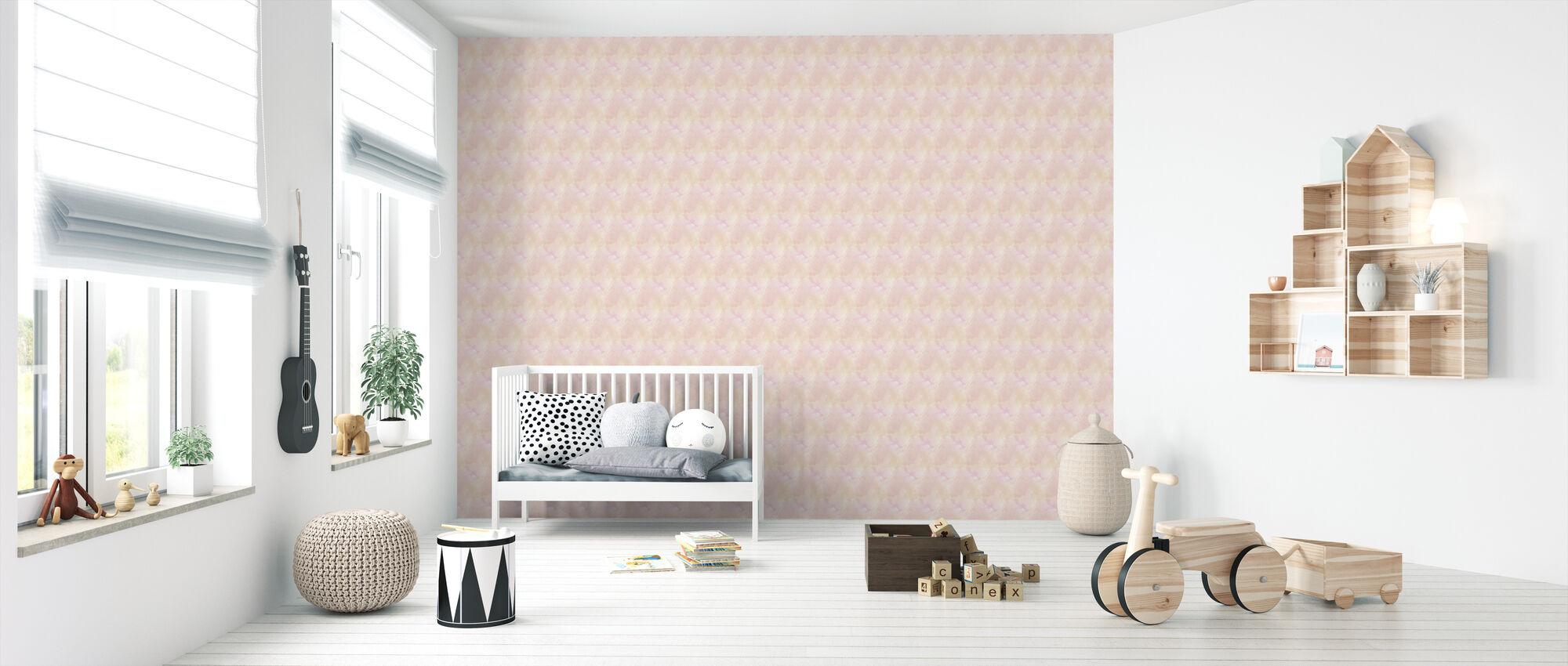 Watercolors Rosy - Wallpaper - Nursery