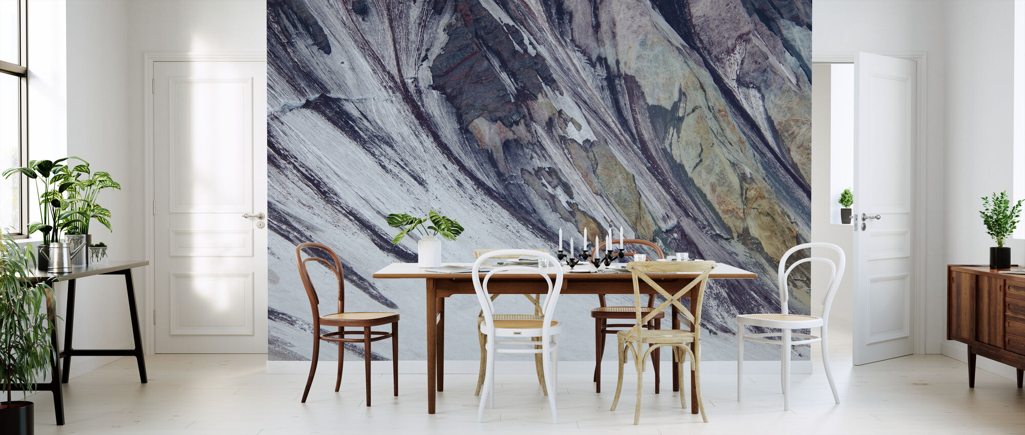 Colorful Layers of Rock, Mount St Helens' Crater - Wallpaper - Kitchen