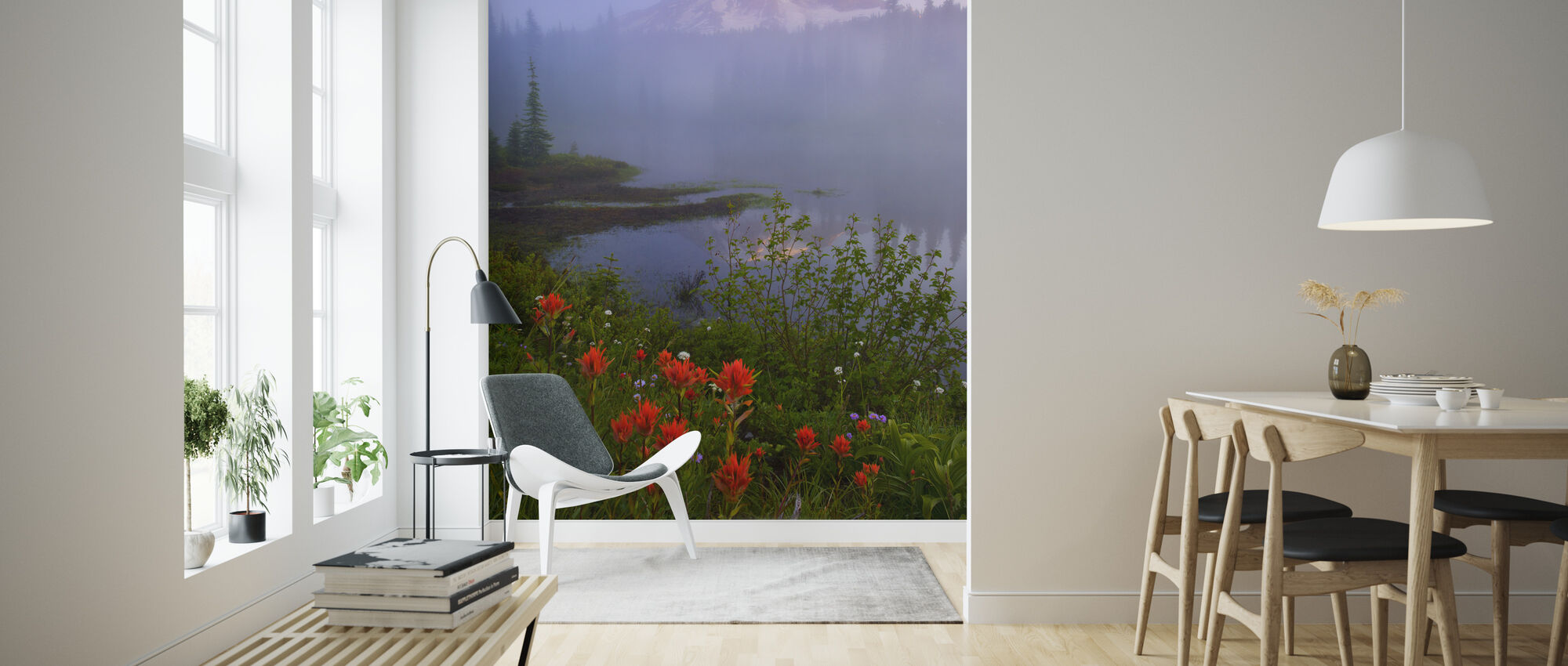 Early Summer Morning, Rainier National Park - Wallpaper - Living Room