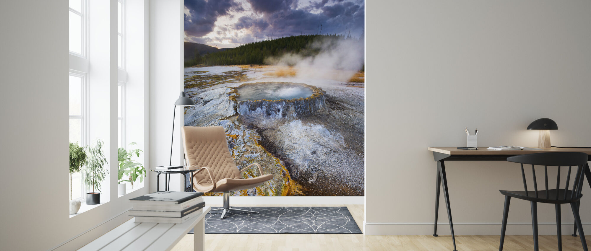Hotspring, Yellowstone National Park - Wallpaper - Living Room