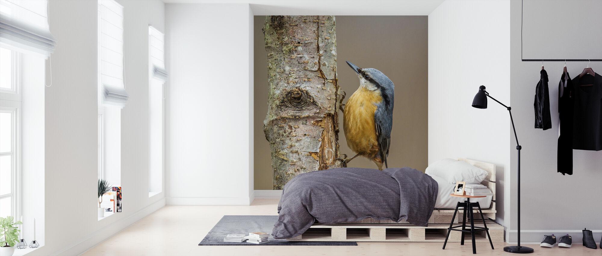 Knuppel Voeding - Behang - Slaapkamer