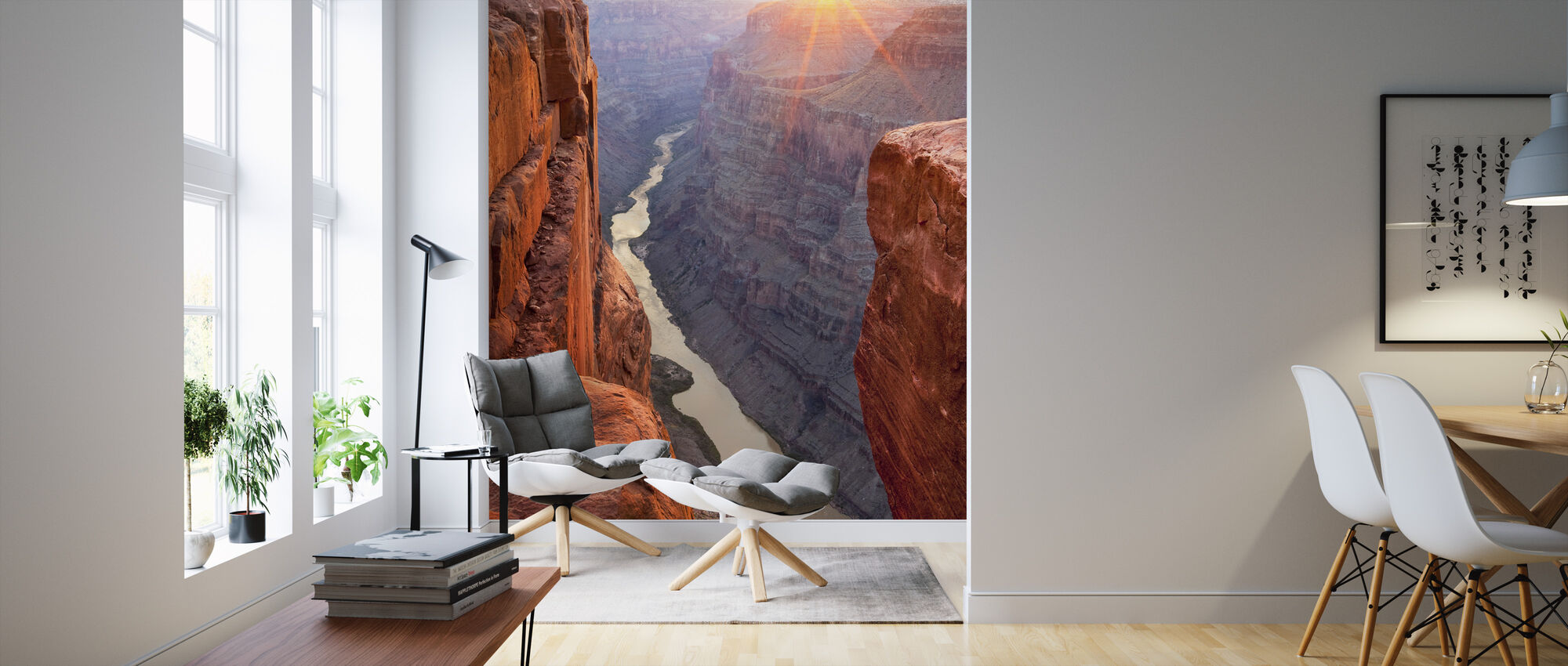 Zonsopgang Over de Grand Canyon, Arizona - Behang - Woonkamer