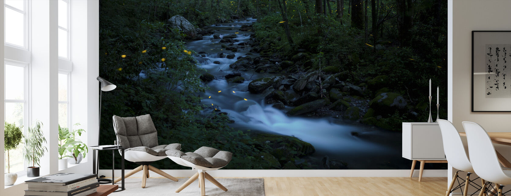 Syncronous Fireflies, Great Smoky Mountains National Park - Wallpaper - Living Room