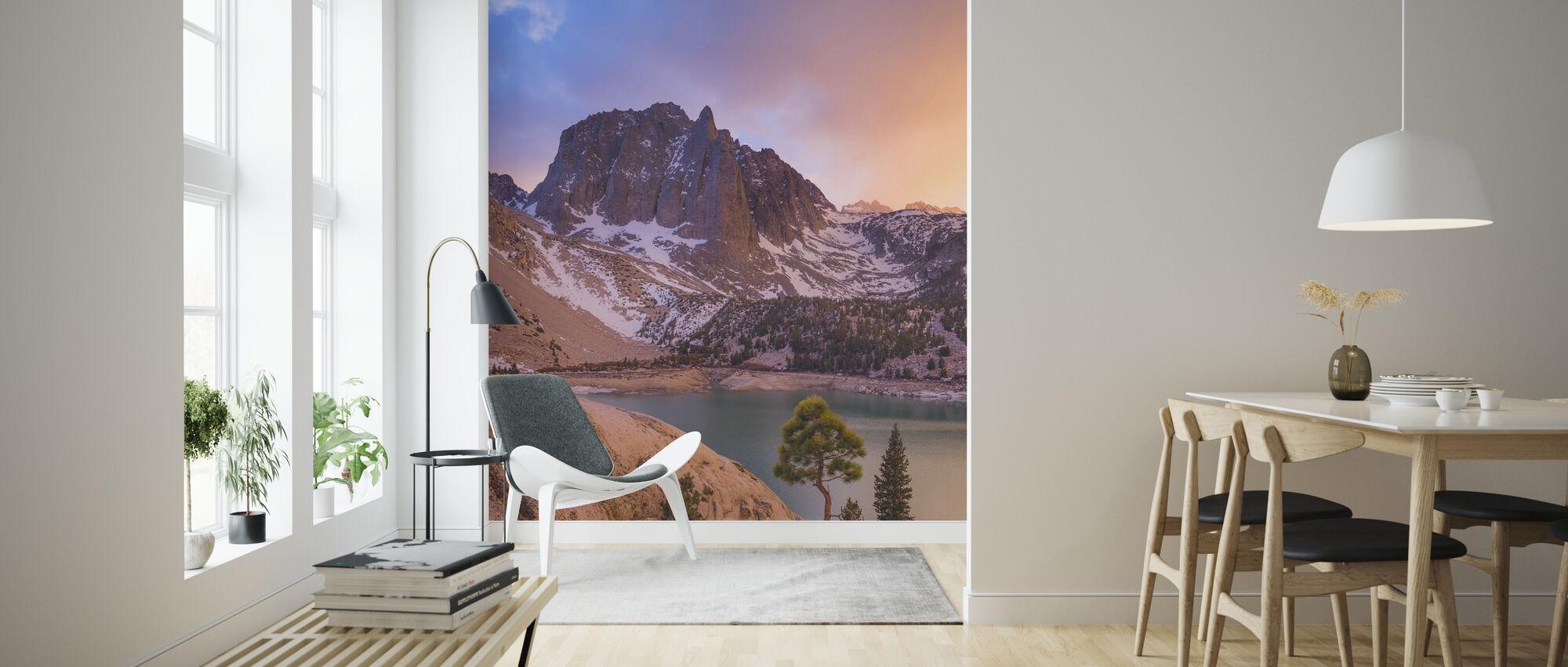 Temple Crag Above Lake, Sierra Nevada - Wallpaper - Living Room