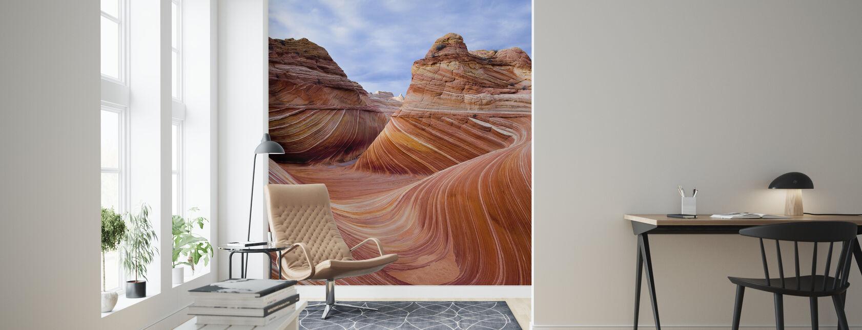 Twisted Sandstone Curves, Vermilion Cliffs, Arizona - Wallpaper - Living Room