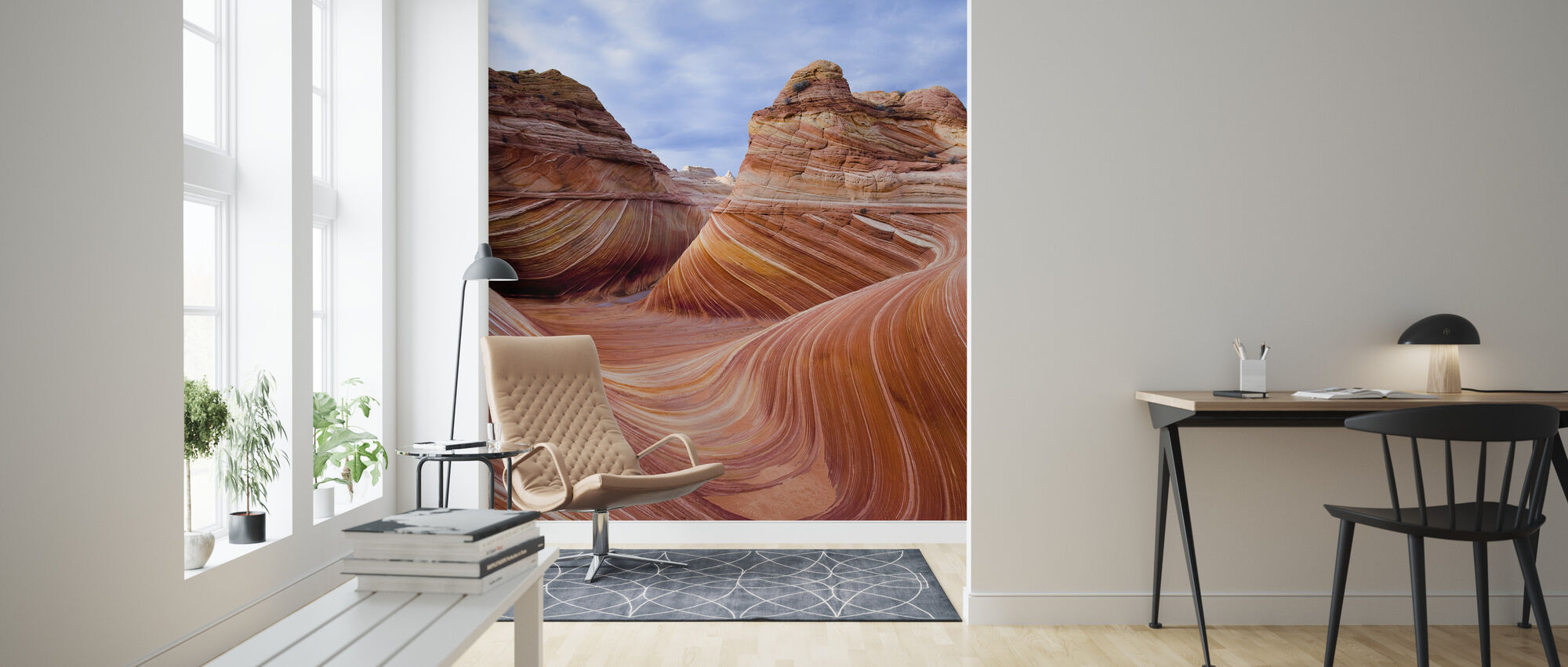 Twisted Sandstone Curves, Vermilion Cliffs, Arizona - Wallpaper - Living Room