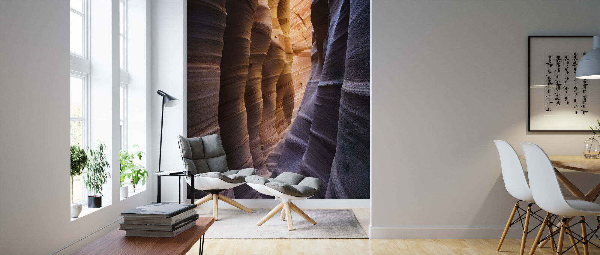 Zebra Slot Canyon, Escalante National Monument - Wallpaper - Living Room