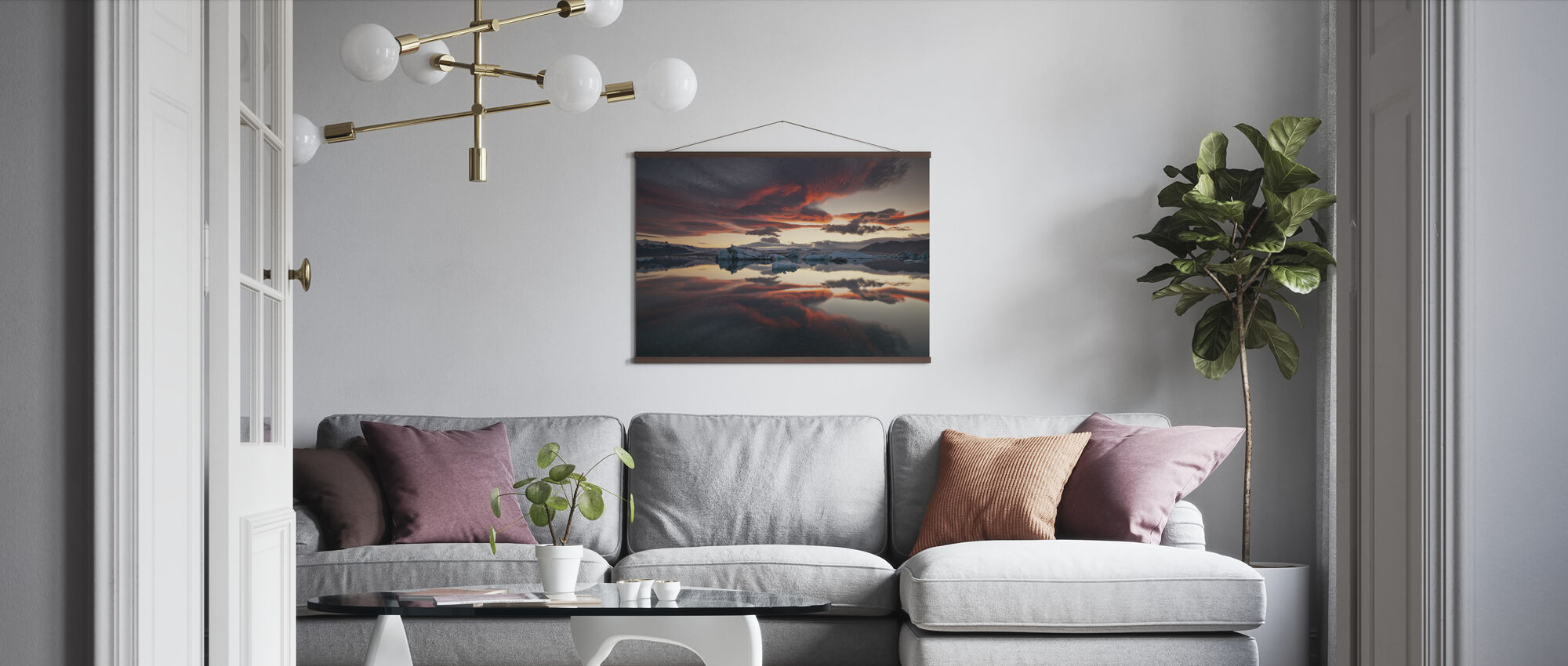 Glacier Lagoon - Poster - Living Room