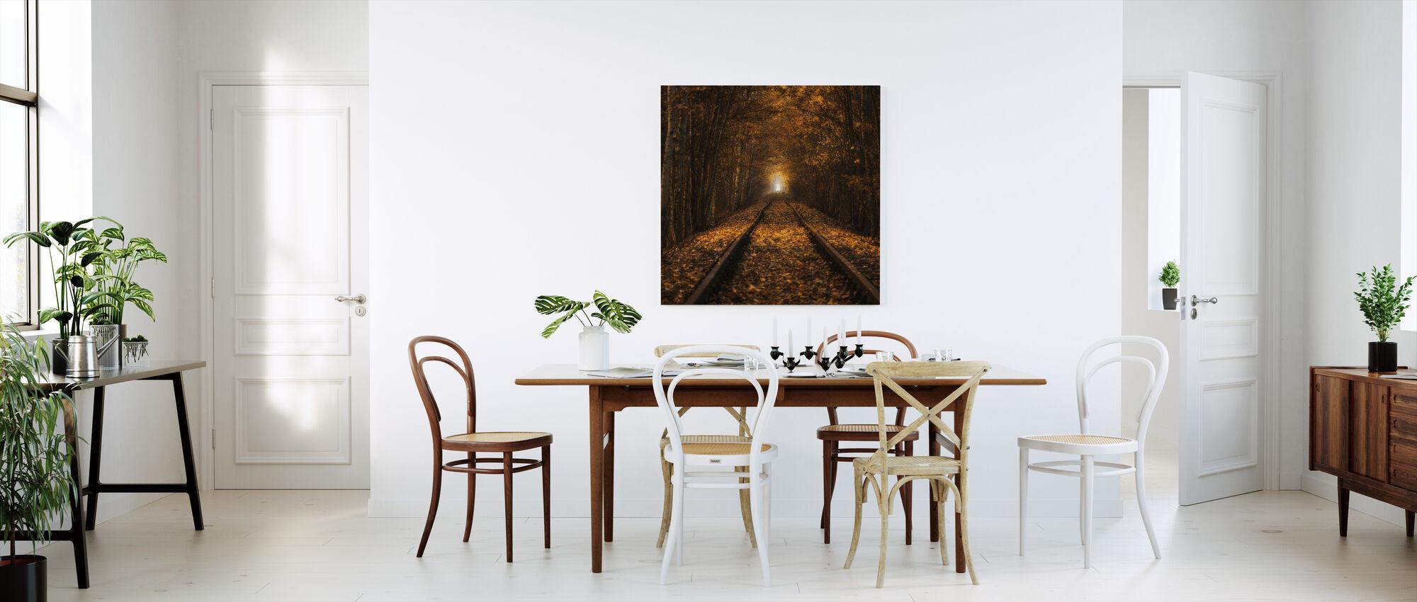 Syksyn tunneli - Canvastaulu - Keittiö