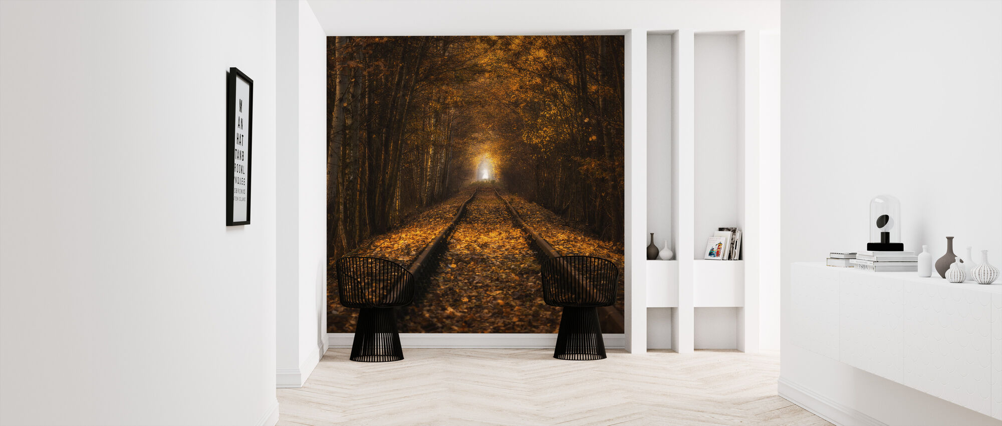 Autumn Tunnel - Wallpaper - Hallway
