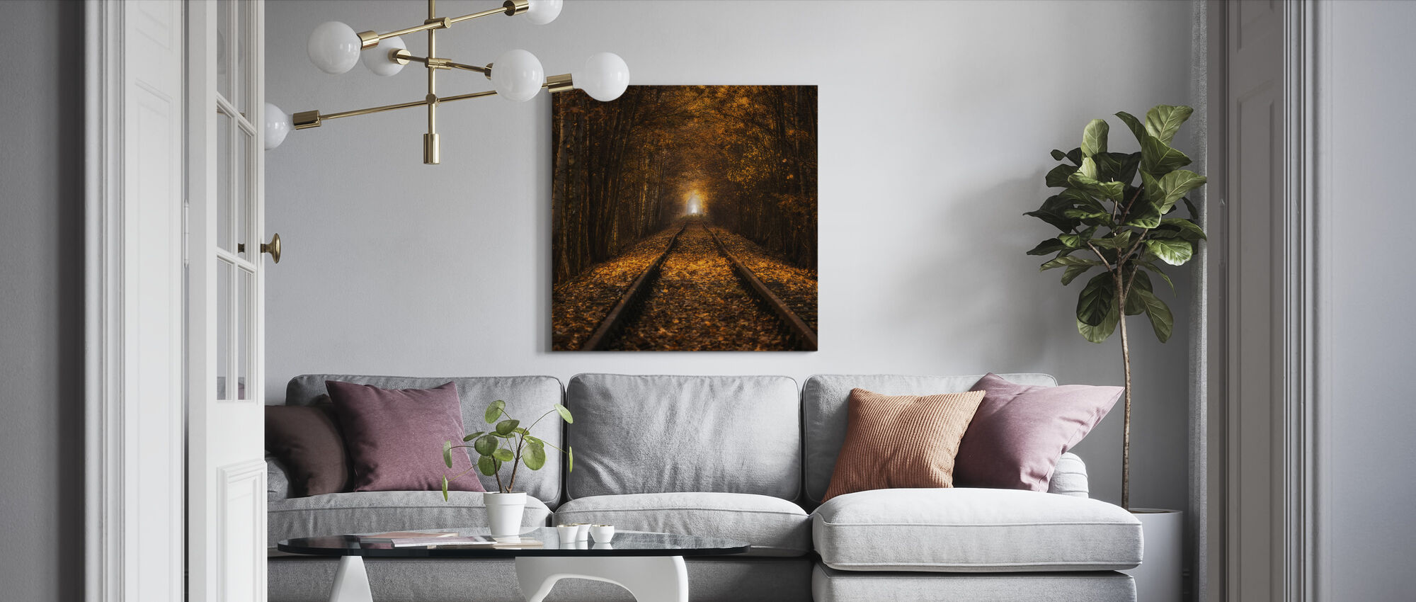 Autumn Tunnel - Canvas print - Living Room