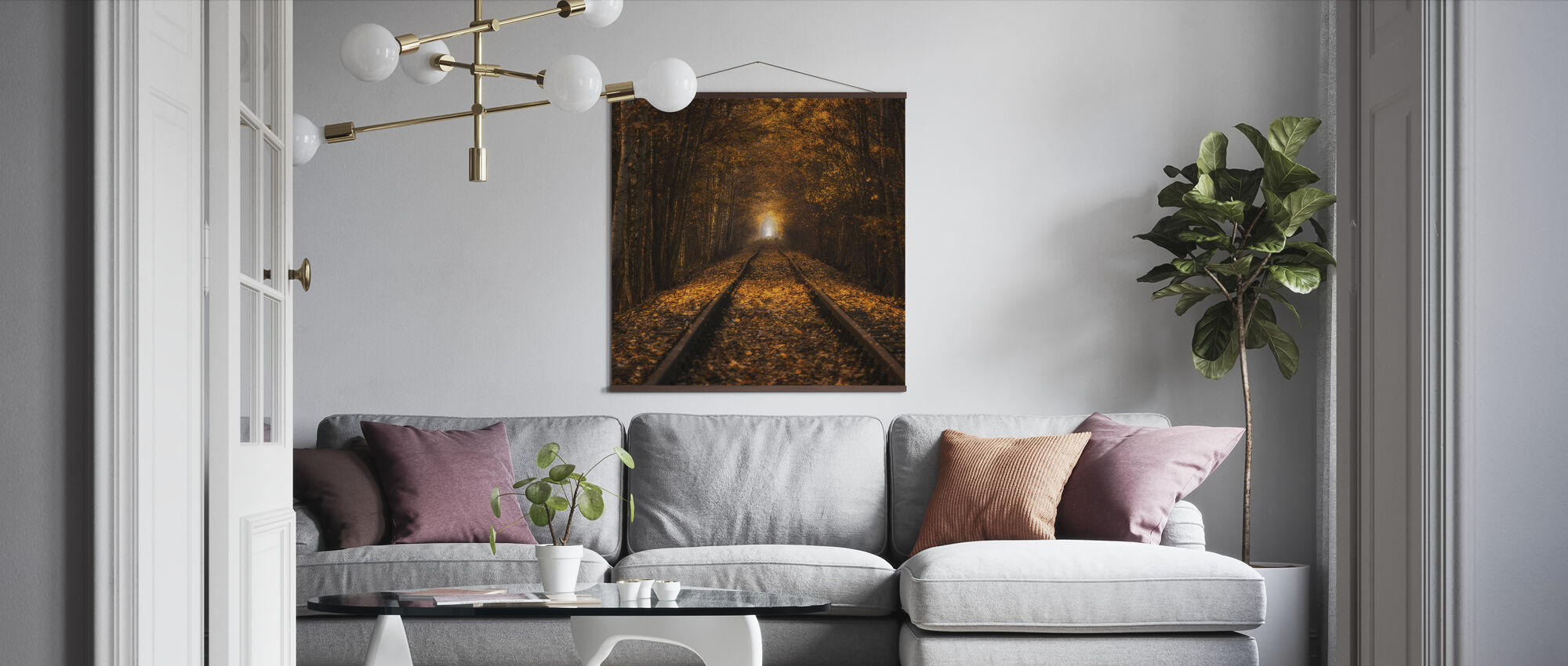 Autumn Tunnel - Poster - Living Room