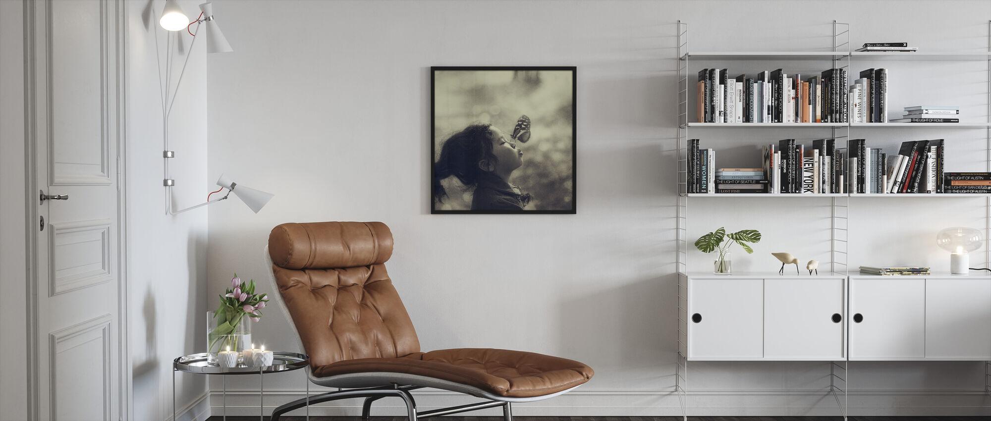 New Friend - Framed print - Living Room