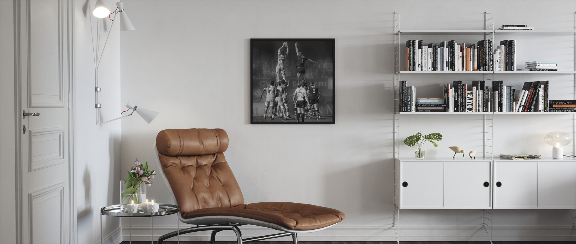 8 vs 5 - Framed print - Living Room