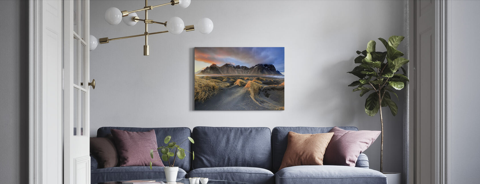 Vestrahorn - Canvas print - Living Room