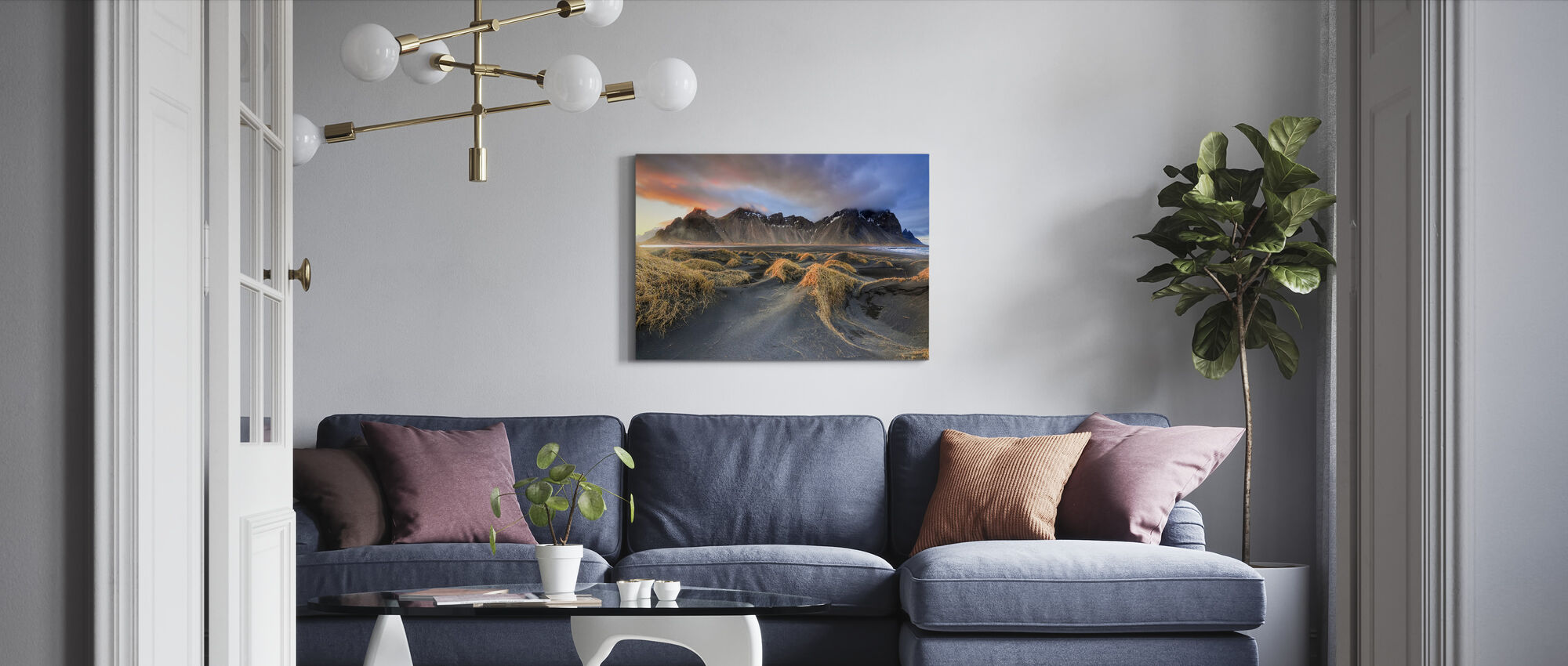 Vestrahorn - Canvas print - Living Room
