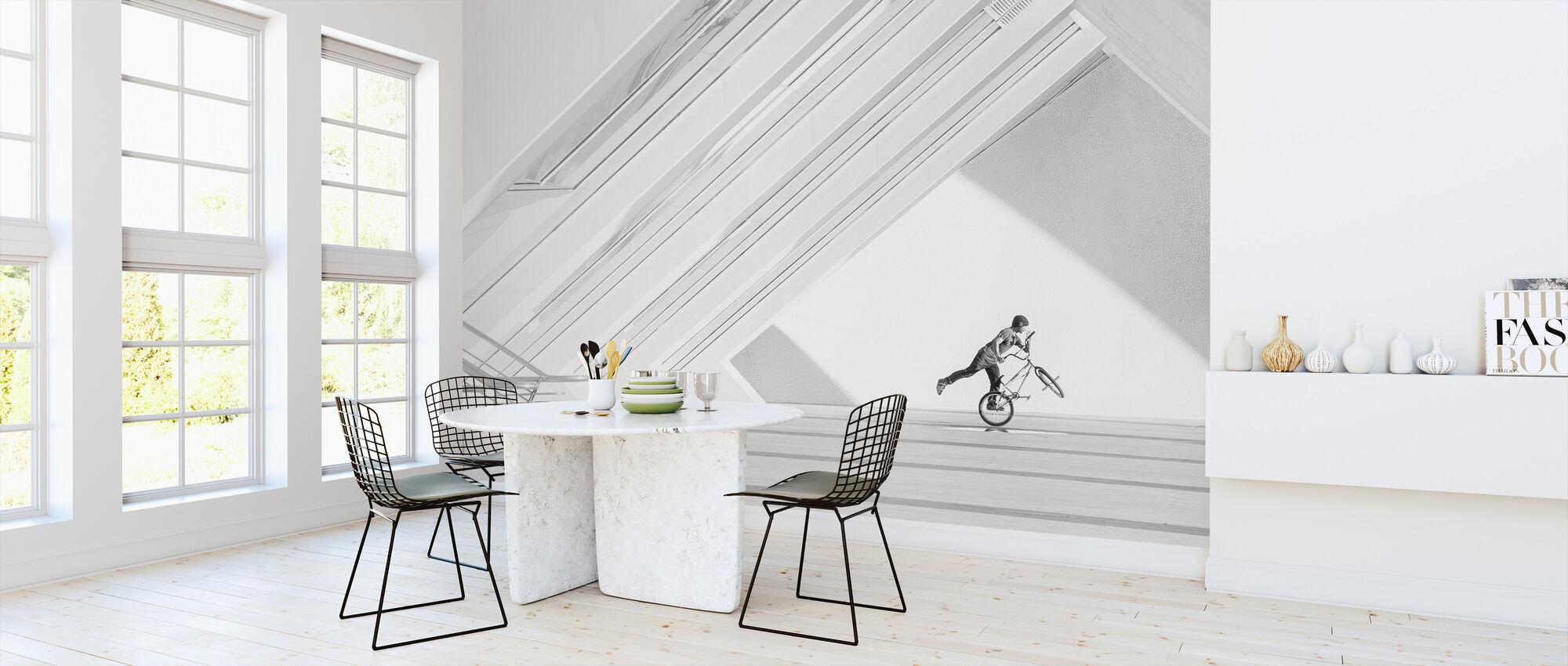 Fiets Kunst - Behang - Keuken
