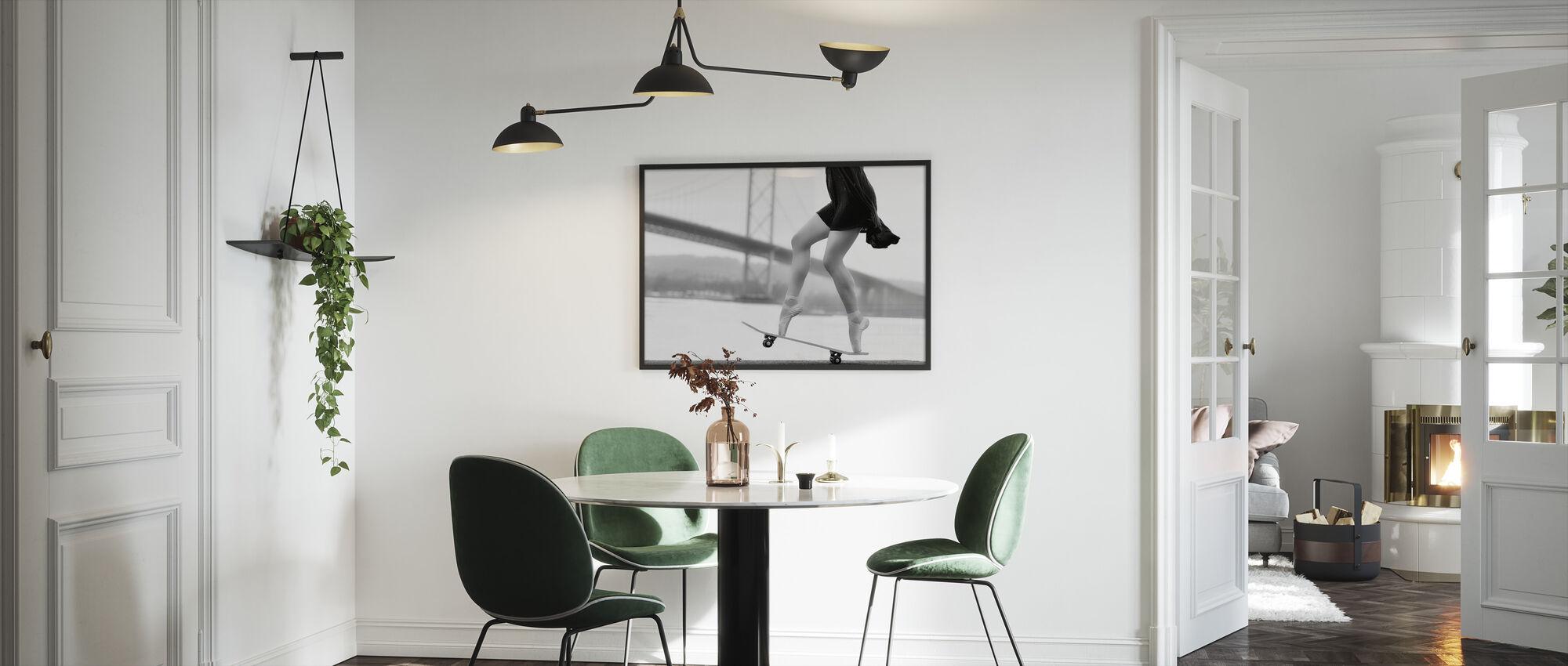 Skater Girl - Framed print - Kitchen