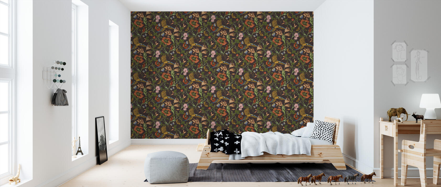 parrot brown stilvolle tapete h chster qualit t mit schneller lieferung photowall. Black Bedroom Furniture Sets. Home Design Ideas