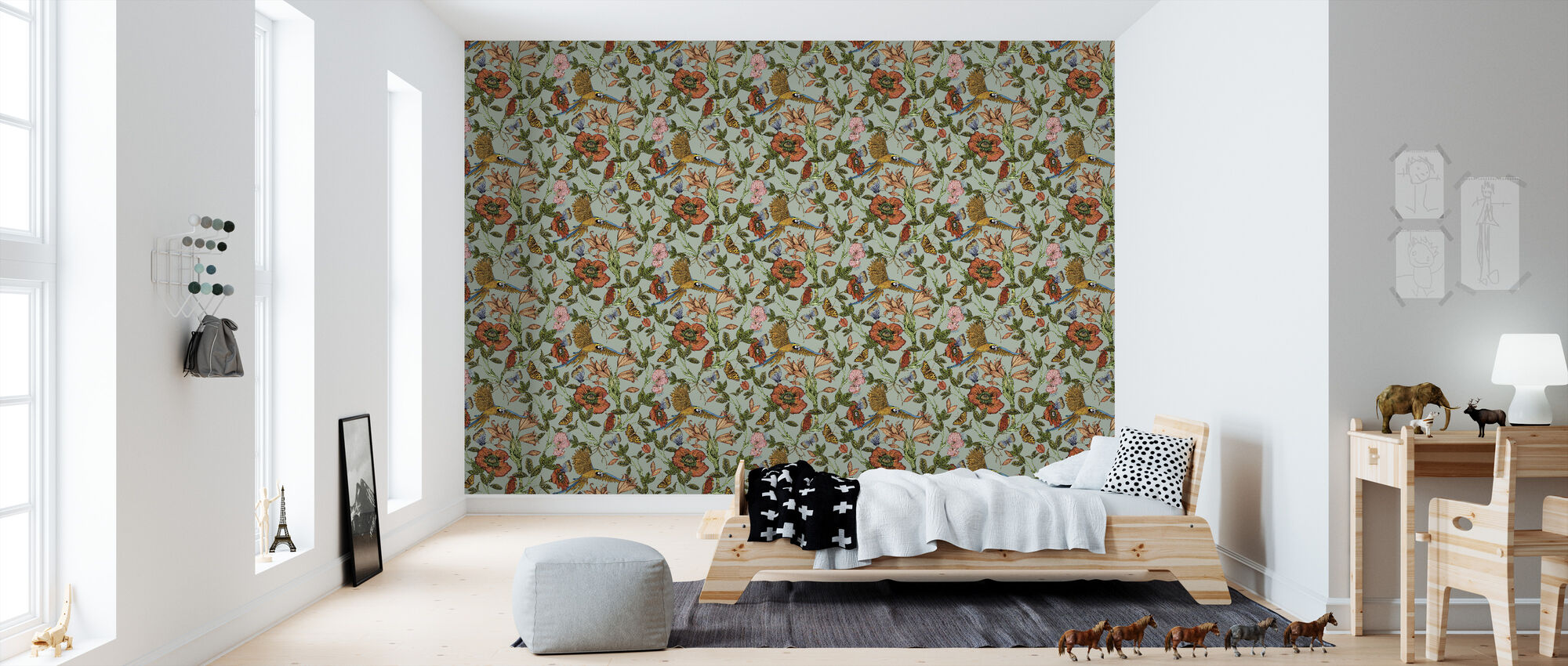parrot turquoise einzigartige tapete h chster qualit t photowall. Black Bedroom Furniture Sets. Home Design Ideas