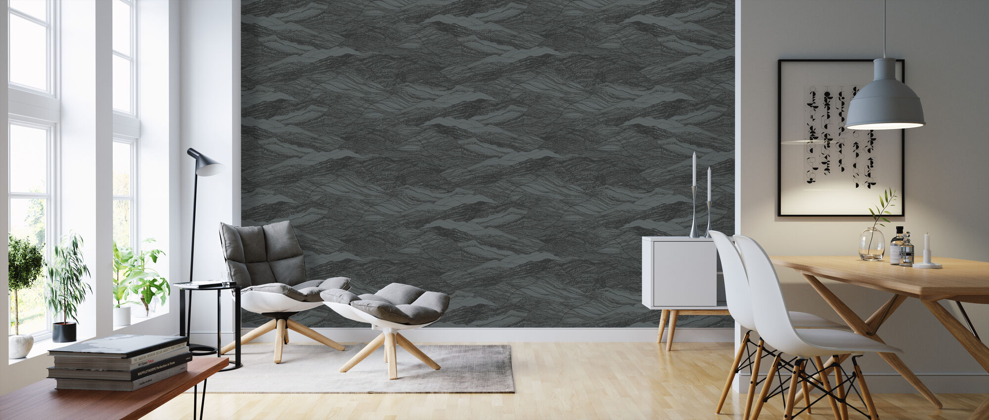 Duna Granite - Wallpaper - Living Room