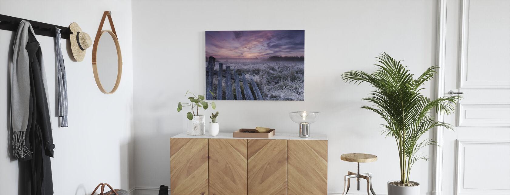 Dawn of Bialowieza Meadows - Canvas print - Hallway