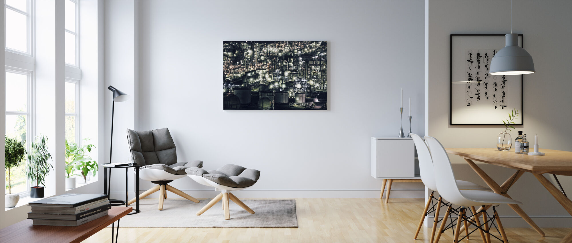 Town that doesn`t Sleep - Canvas print - Living Room