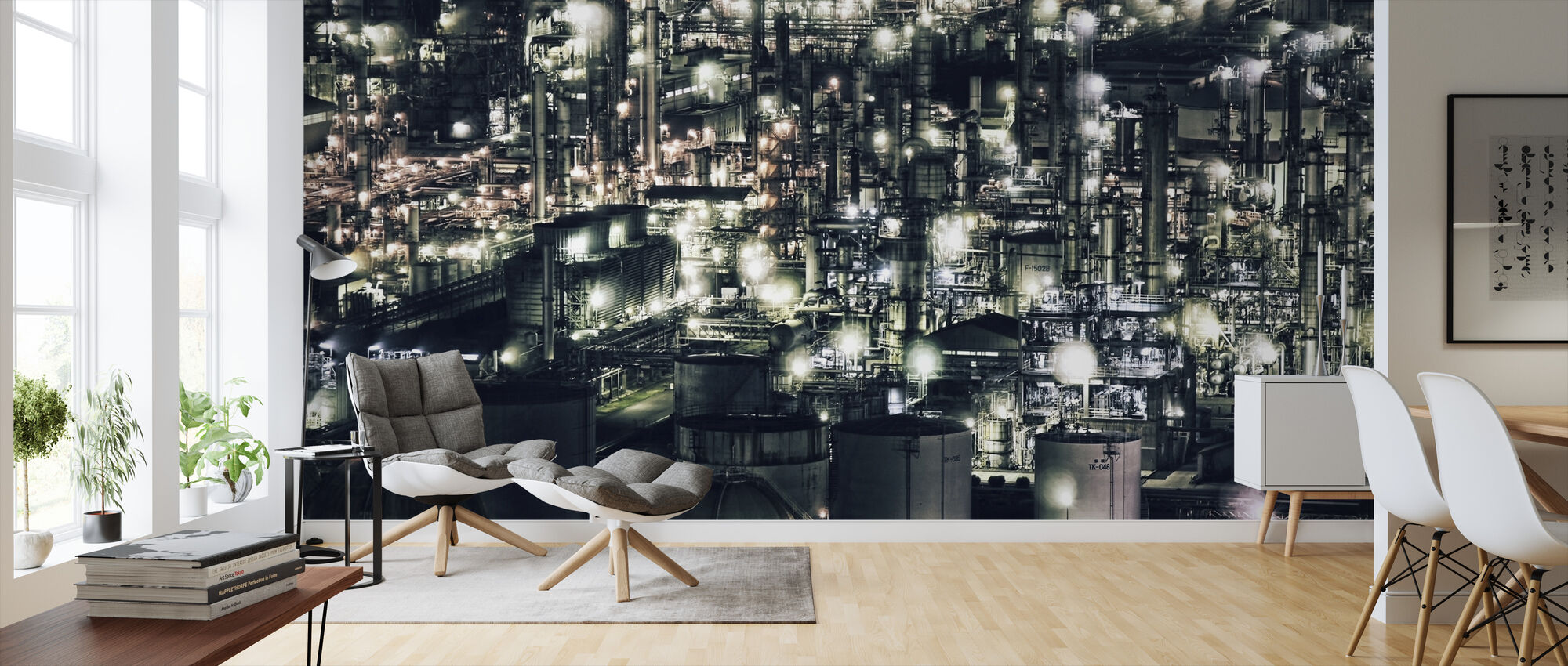 Town that doesn`t Sleep - Wallpaper - Living Room