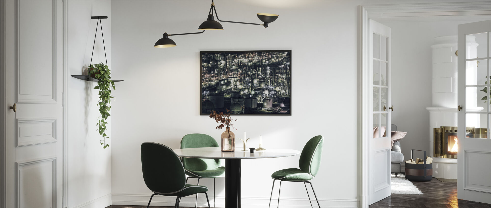 Town that doesn`t Sleep - Framed print - Kitchen