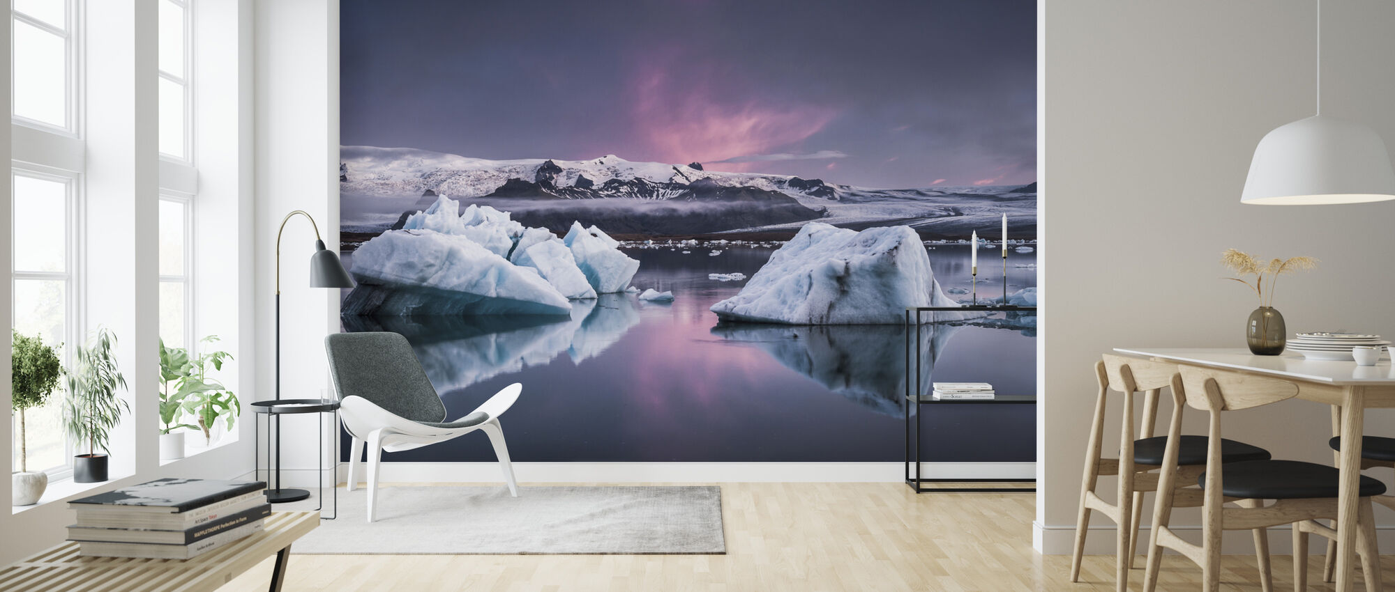 The Glacier Lagoon - Wallpaper - Living Room