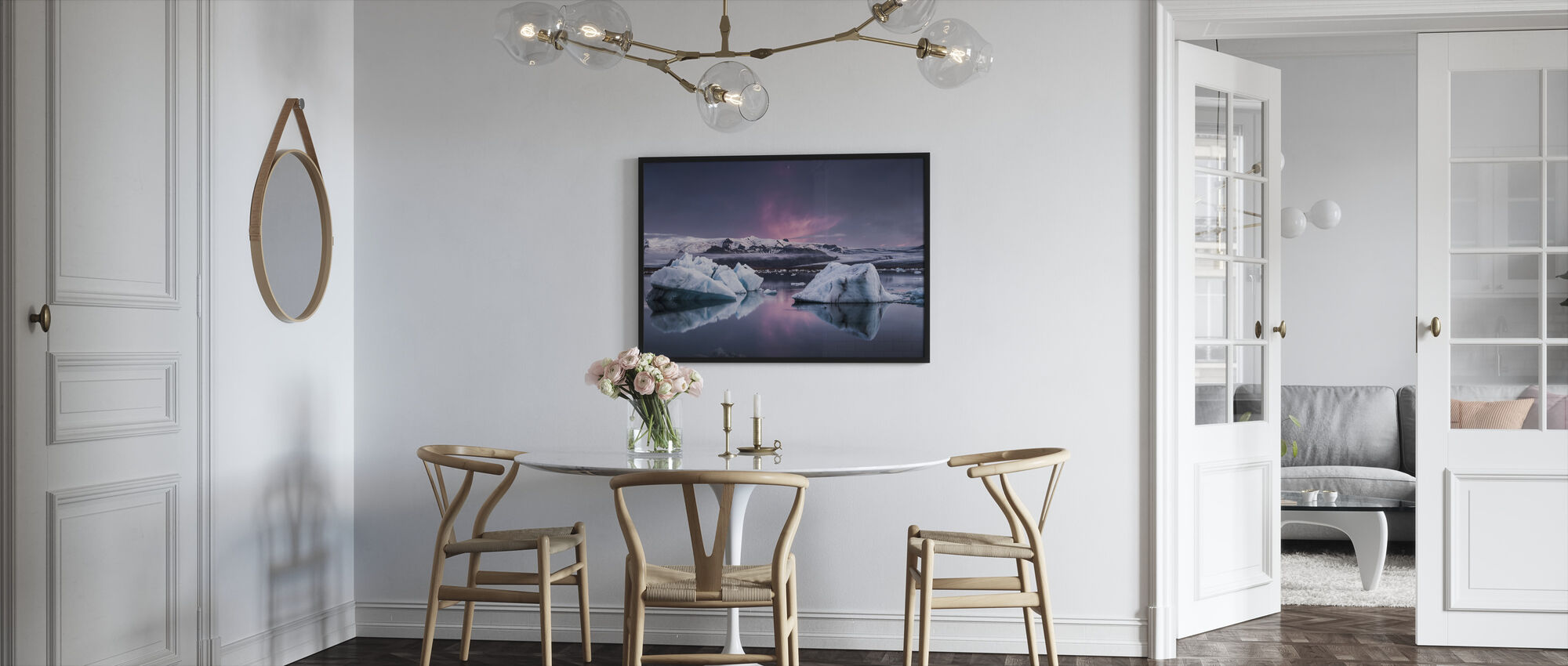 The Glacier Lagoon - Framed print - Kitchen