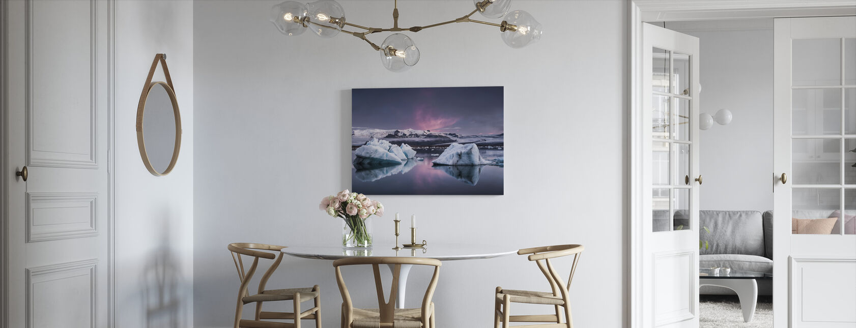 Jäätikön laguuni - Canvastaulu - Keittiö