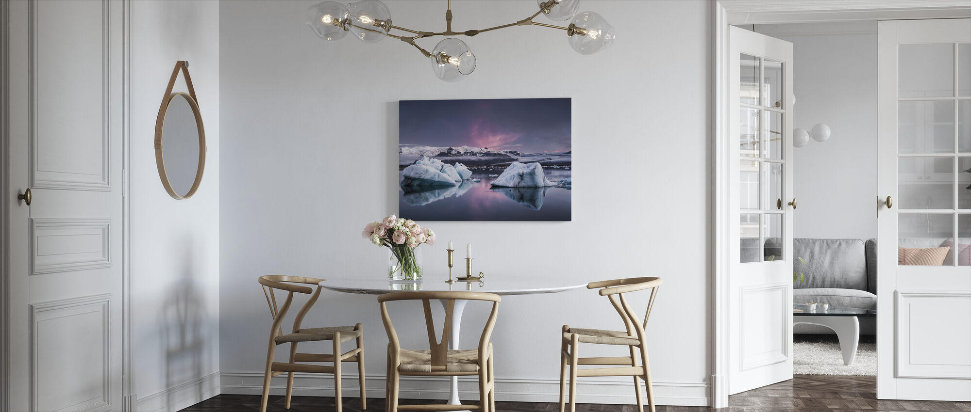 The Glacier Lagoon - Canvas print - Kitchen