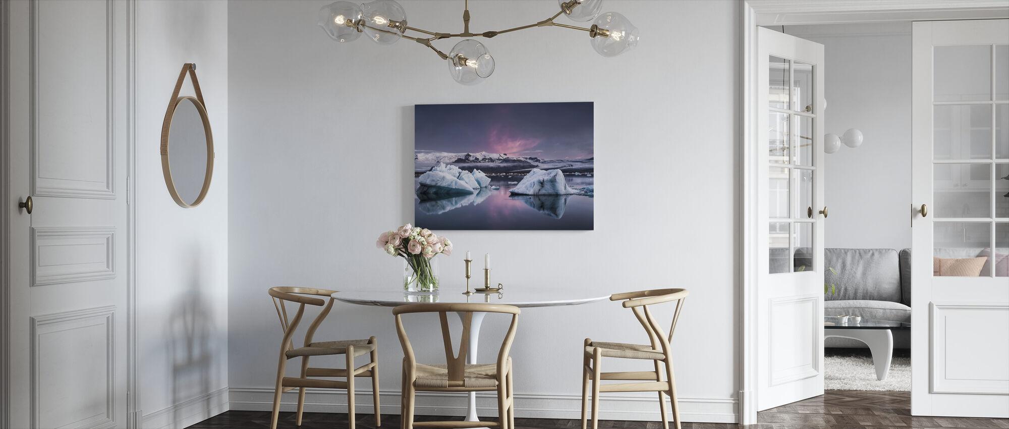 Die Gletscherlagune - Leinwandbild - Küchen