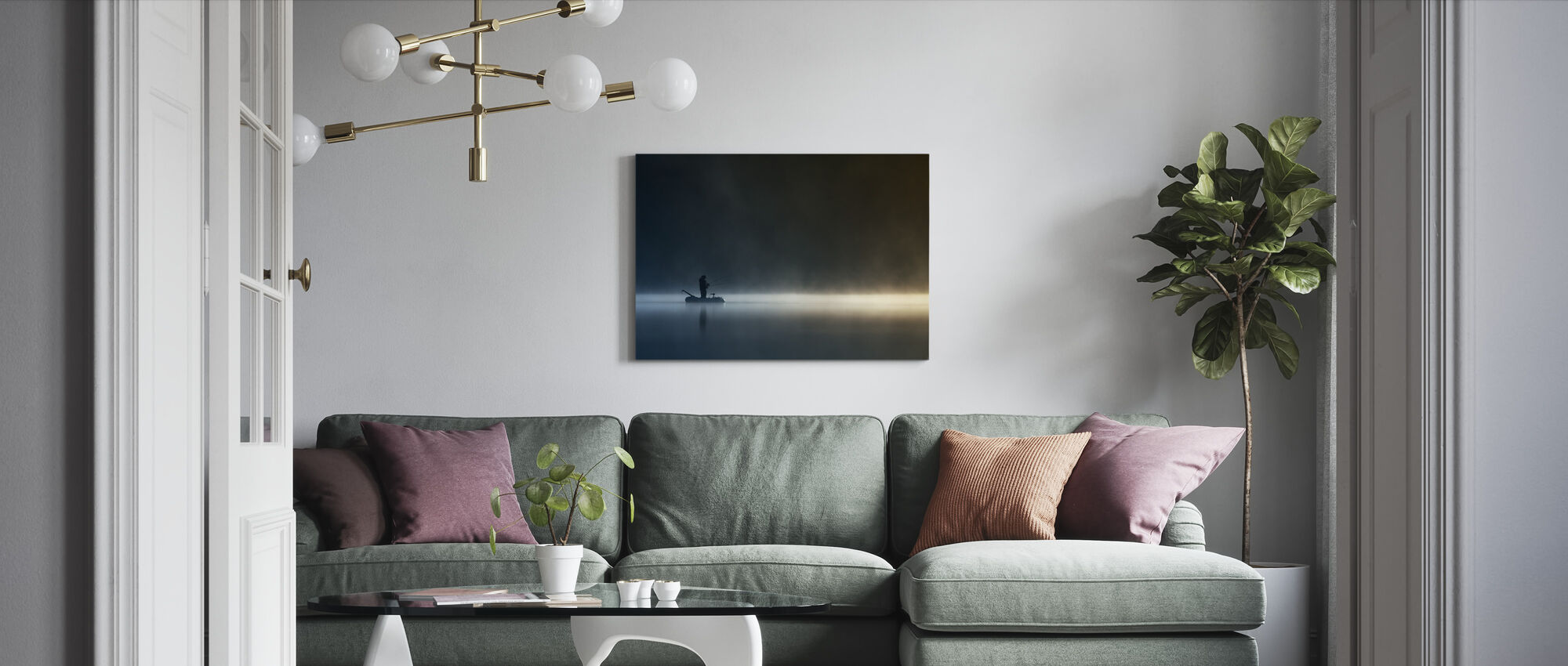 Burn My Shadow - Canvas print - Living Room