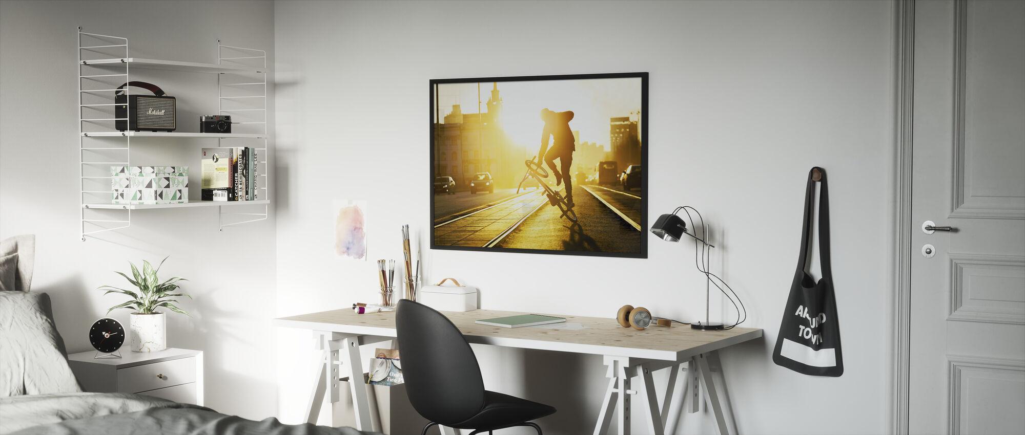 Flatland - Framed print - Kids Room