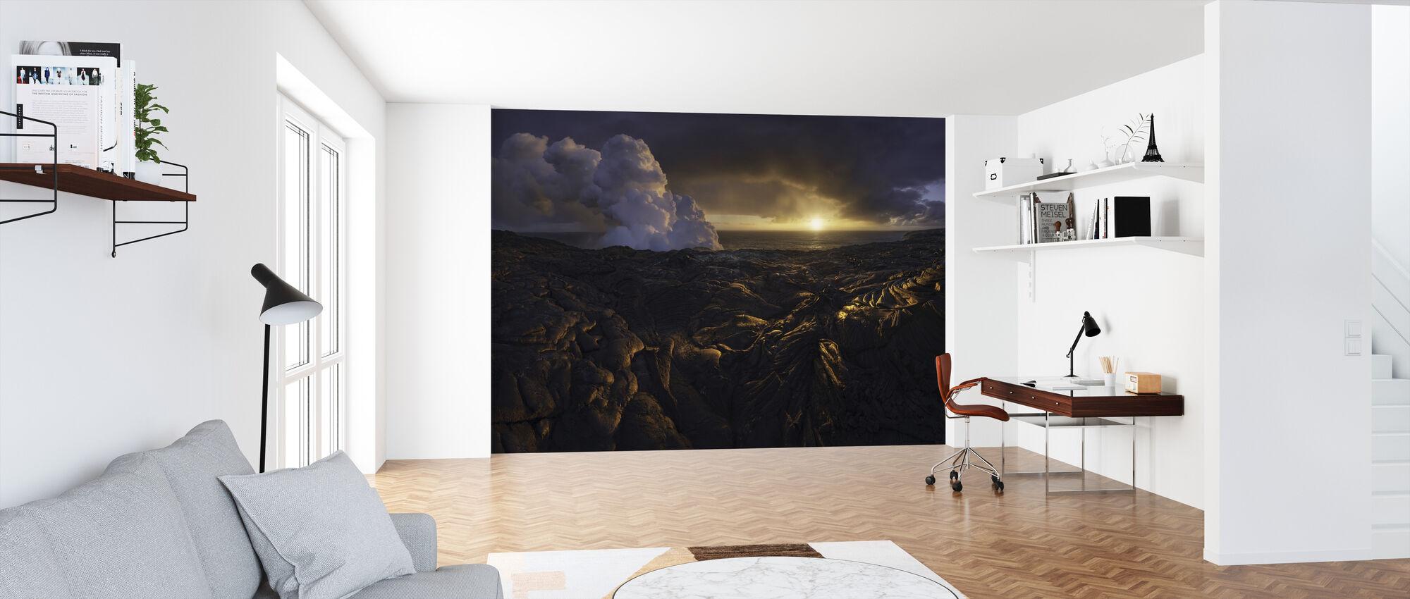 Lava Fields - Wallpaper - Office