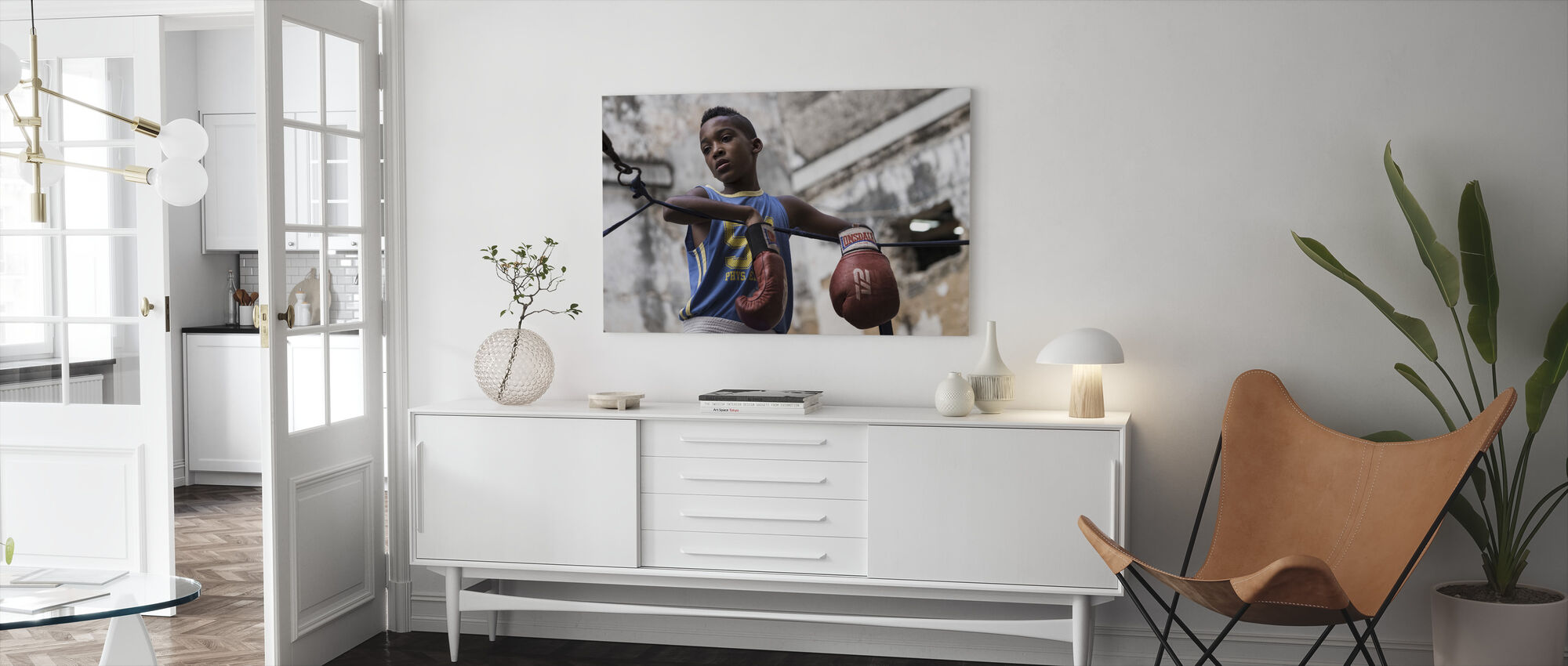 Boxing - Canvas print - Living Room