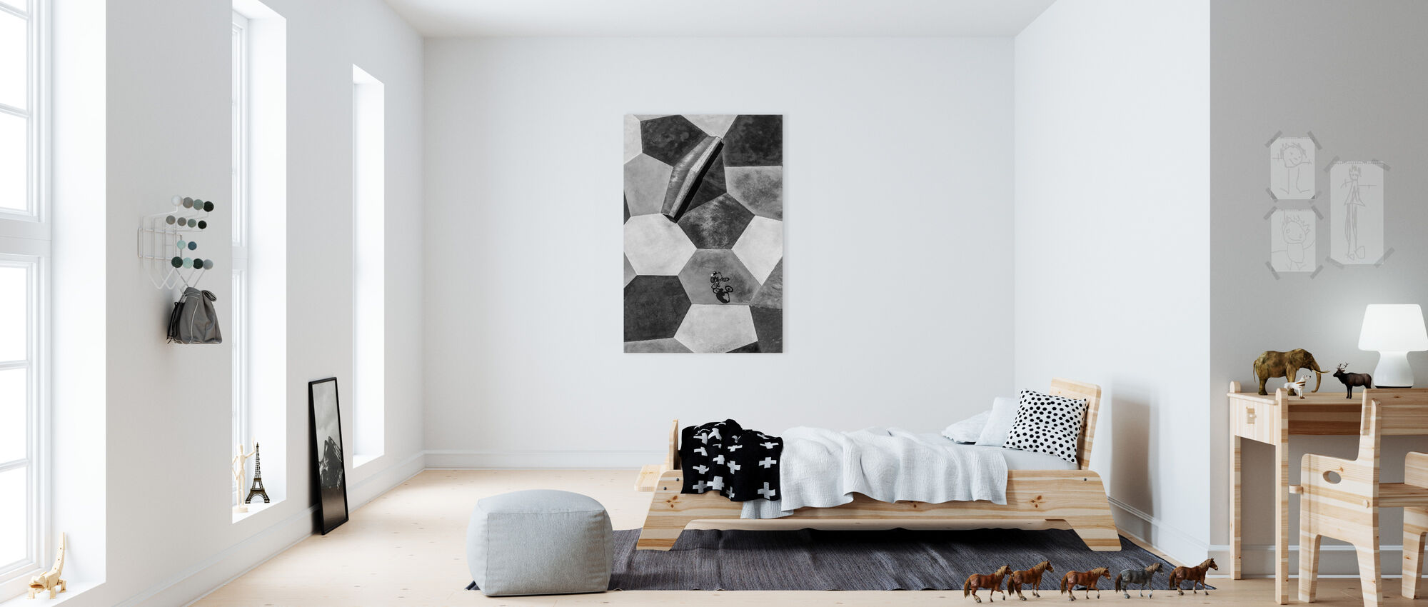 Lonely Rider - Canvas print - Kids Room