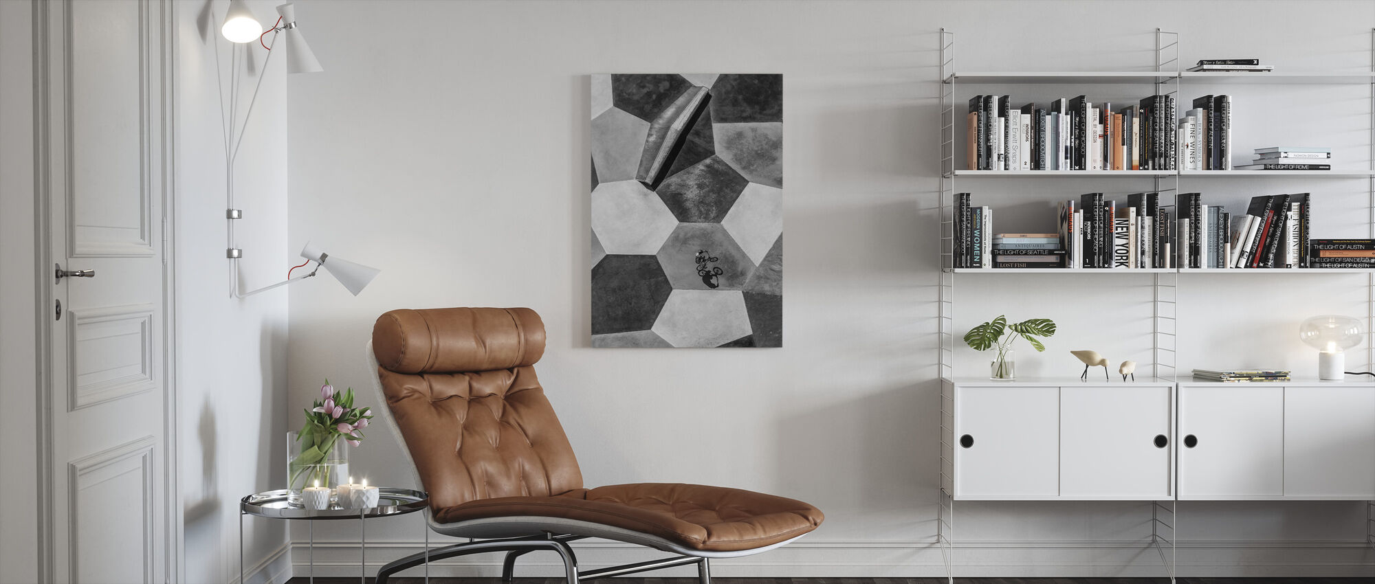 Lonely Rider - Canvas print - Living Room