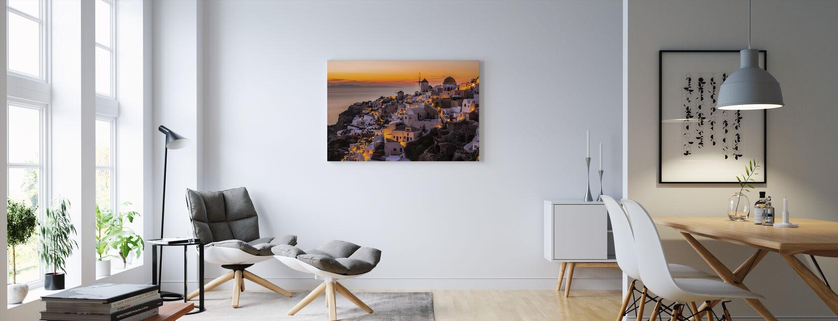 Calispera Santorini - Canvastavla - Vardagsrum