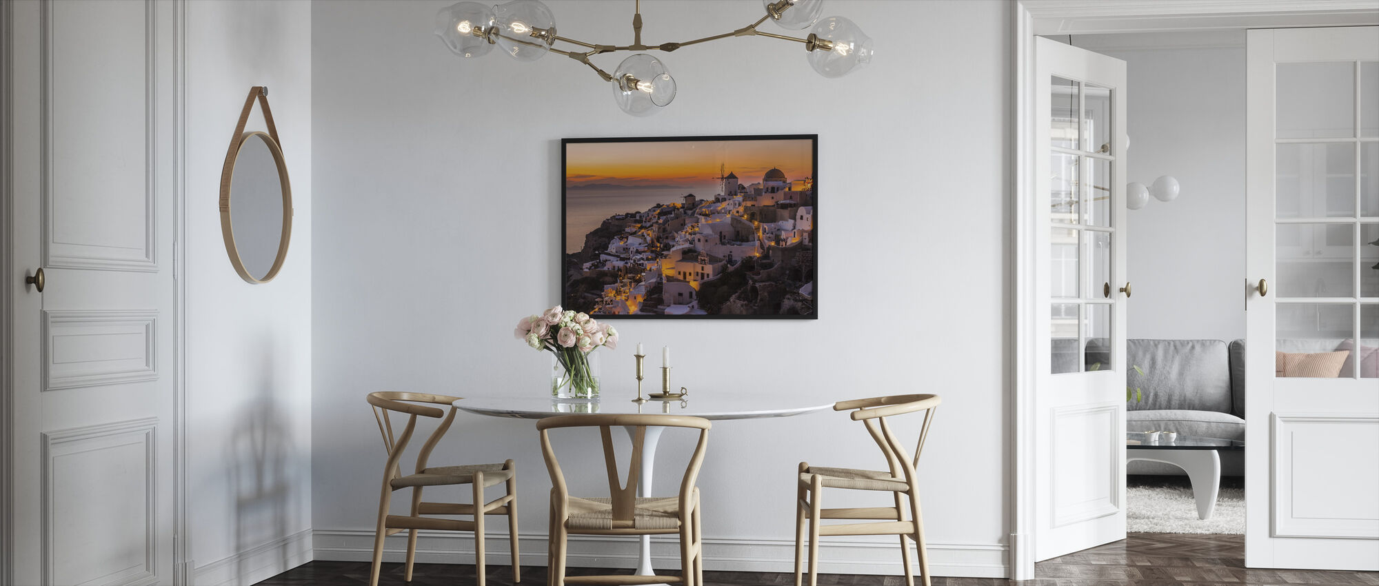 Calispera Santorini - Framed print - Kitchen