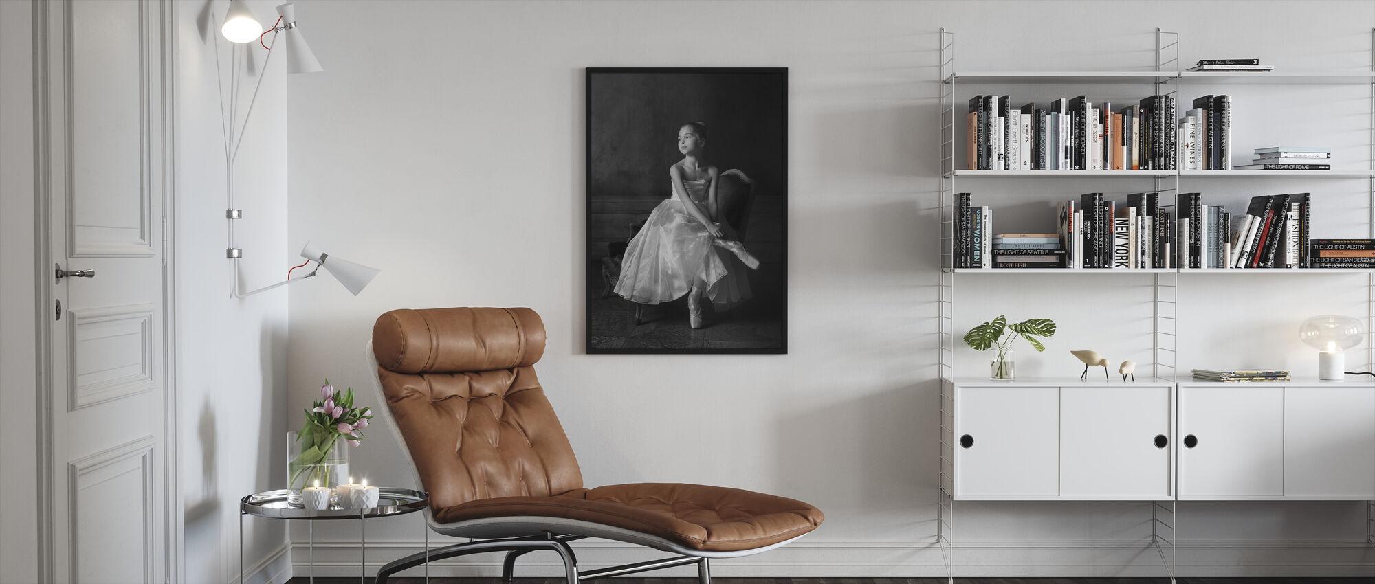 Little Ballet Star - Framed print - Living Room