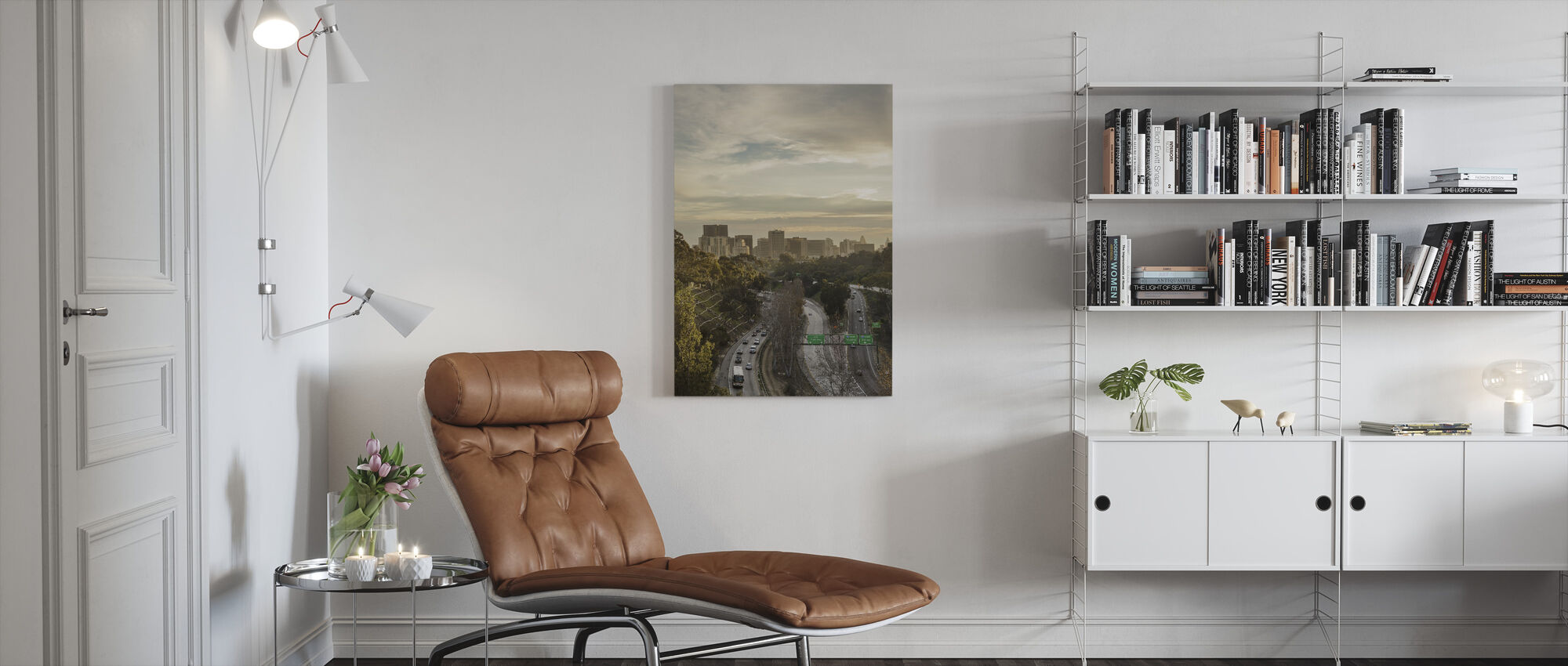 San Diego Cityscape - Canvas print - Living Room