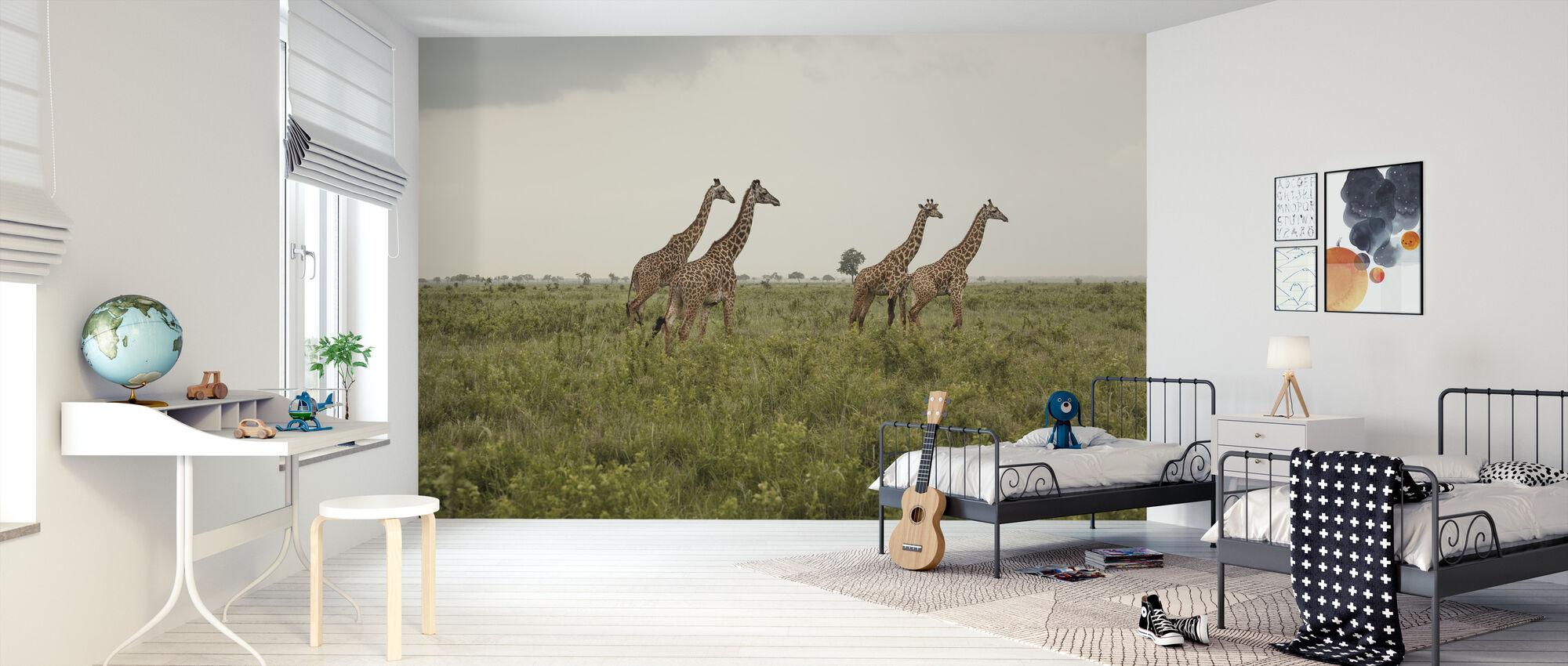 Giraffes in National Park - Wallpaper - Kids Room