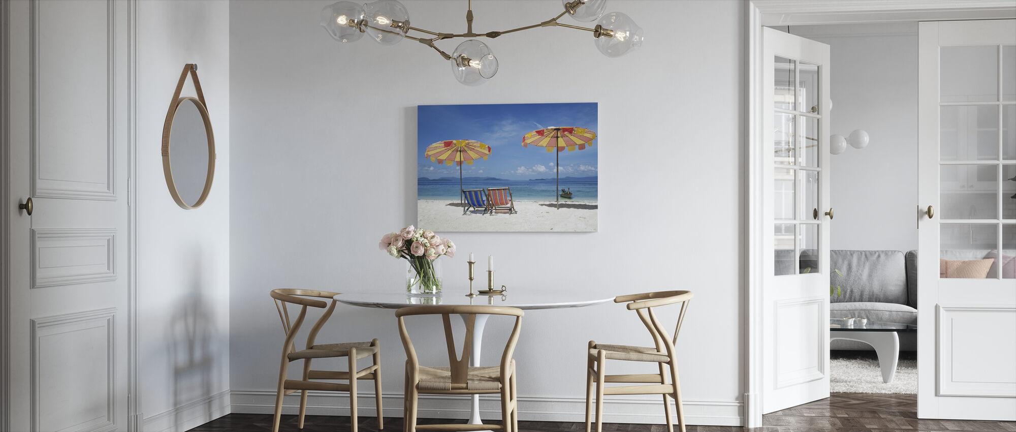 Strand Vakantie - Canvas print - Keuken