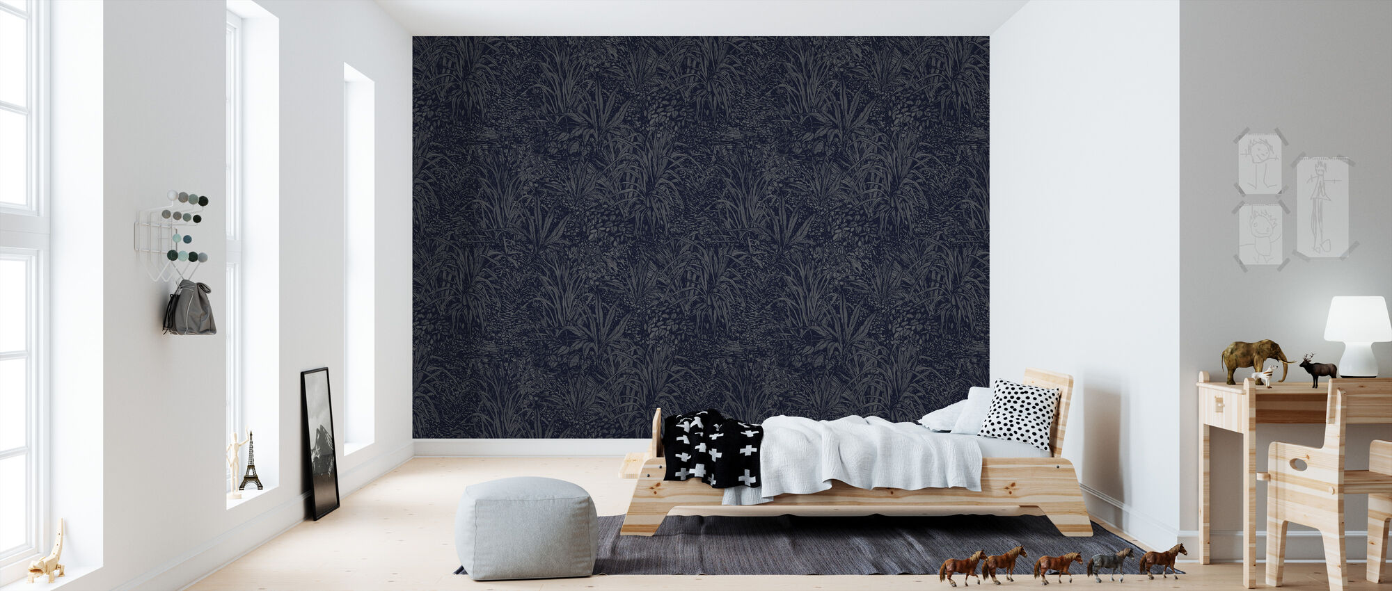 Jungle Orchid - Wallpaper - Kids Room
