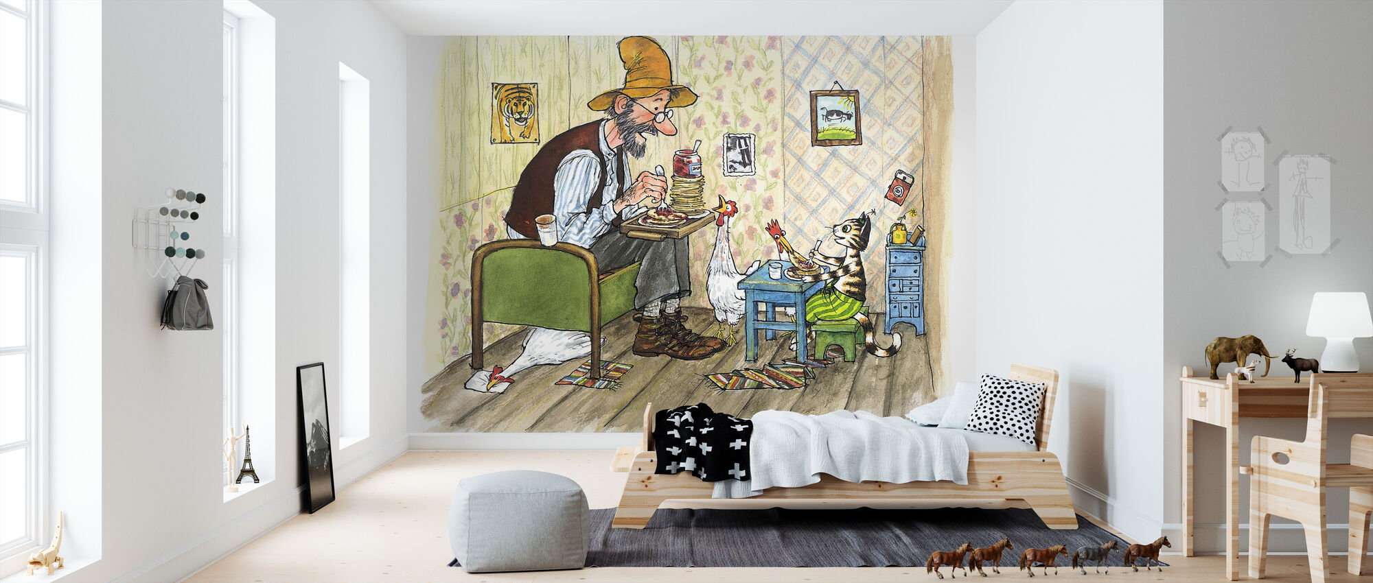 Pettson and Findus - Findus moving out - Wallpaper - Kids Room