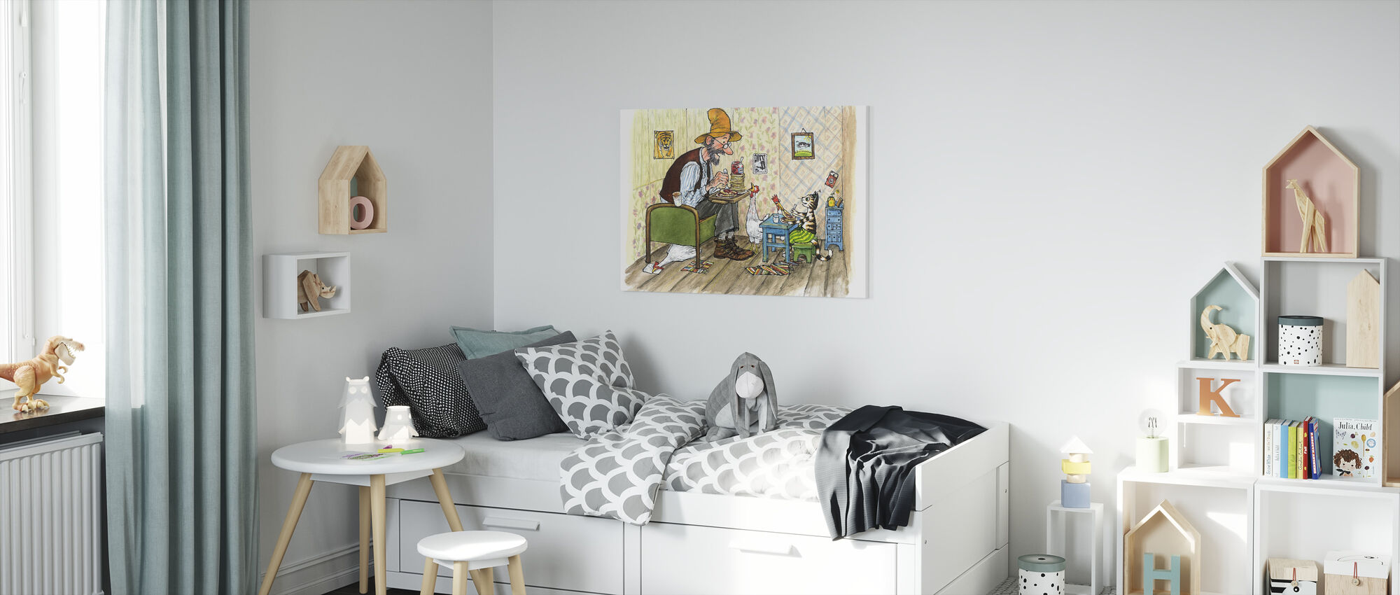 Pettson and Findus - Findus moving out - Canvas print - Kids Room